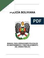 Bolivian Police Manual on Public Order Maintenance
