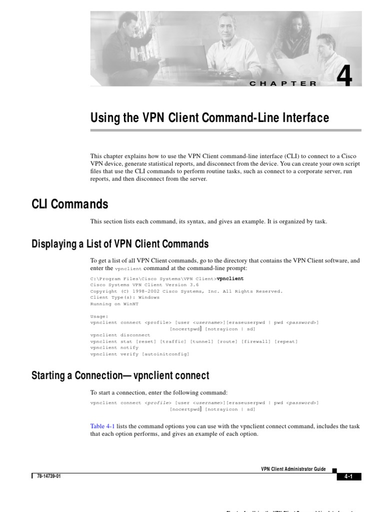 Cisco VPN Client Command Line | Command Line Interface