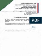 CGPA to Percentage Certificate
