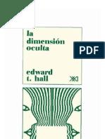 19218913 La Dimension Oculta Edward T Hall Bajo