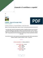 Forma Correcta de Hablar Español