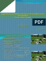 Experiencias Con Pastos y Forrajes en La Zona Alta Lechera de Costa Rica PROYECTO PLANTON-PACAYAS