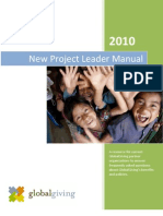 Global Giving Project Leader Manual 9.30