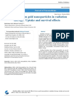 Effect of Size on Gold Nanoparticles in Radiation Therapy Uptake and Survival Effects