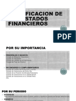 Clasificacion de Los Estados Financieros