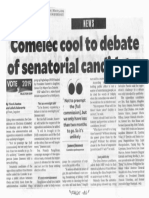 Philippine Daily Inquirer, Mar. 5, 2019, Comelec cool to debate of senatorial candidates.pdf