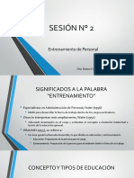 Sesion 2 Entrenamiento Personal Conceptos, Tipos, Propósitos, y Ciclo de Entrenamiento
