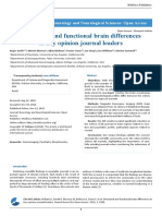 Structural and Functional Brain Differences in Key Opinion Journal Leaders