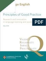 22695 Principles of Good Practice