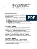 Concepto de Documento Registro y Archivo