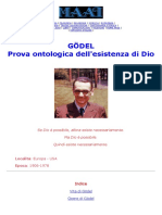 Godel - Prova Ontologica Dell'Esistenza Di Dio