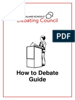 how to debate guide