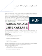 Basics for Fatigue Analysis of Piping System using Caesar II.doc