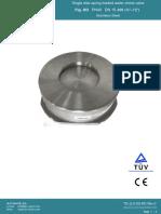 Single Disk Spring Loaded Wafer Check Valve PN40