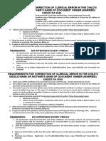 PSA requirements