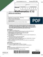 January 2014 (IAL) QP - C12 Edexcel