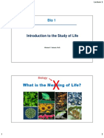 Lecture I-1 Concept of Life