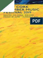 2019 West Cork Chamber Music Festival Brochure for Web