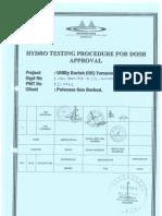 Hydrotest Procedure -Ro Prefilter g