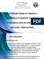 The Perceptions of Grade 8 Amorsolo Students Towards Cyberbullying in San Isidro National High School