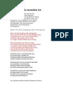 Rilke Projekt I Bis an Alle Sterne
