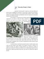 Derecho Penal y Poder Político Punitivo.
