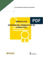 Defensa Del Trabajo Fin de Curso (TFC)