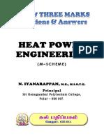 KAL Pathippagam - Diploma -  Heat Power Engineering ( English) - 2 & 3 Marks - Important Questions - DOTE - Tamilnadu