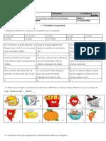 Contrôle Alimentation 2013 8º
