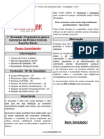 1º Simulado - PCES - Investigador