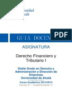 Guía Docente DERFINTRIB I Doble Grado 2014-15