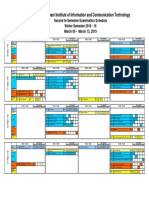 Second in Sem Exam Schedule Winter 2018-19