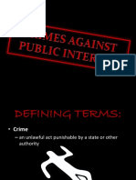 Crimes Against Public Interest