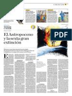 El Antropoceno y La Sexta Gran Extinción