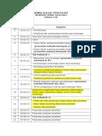 Jadwal Kuliah Teratologi 2019