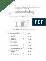 Contoh Perhitungan Sambungan Gelagar Profil Komposit