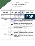 TOEFL Feedback Form