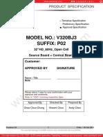Panel Chimei Innolux v320bj3-p02 0