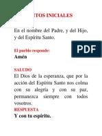 Rito de La Confirmación. Carpeta Obispo