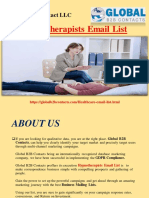 Hypnotherapists Email List