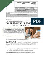 9° Técnica de Escritura.
