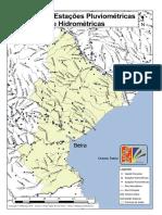 Mapa de Estacoes Pluviométricas e Hidrométricas da Província de Sofala