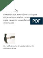 Martillo - Wikipedia, La Enciclopedia Libre