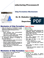 IPE 341 Chip Formation Mechanism