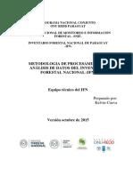 Metodologia Procesamiento Datos IFN PY 25-10-2015