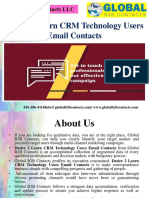 Desire 2 Learn CRM Technology Users Email Contacts