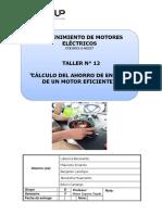 12. Cálculo Del Ahorro de Energía de Un Motor Eficiente. Lab 12 Converted