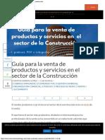 Cómo Vender Productos y Servicios en El Sector de La Construcción