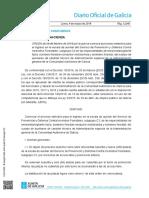 ORDEN de 28 de febrero de 2019 por la que se convoca el proceso selectivo para el ingreso en la escala de auxiliar del Servicio de Prevención y Defensa Contra Incendios Forestales, subgrupo C2 en las especialidades de emisorista/vigilante fijo/a, bombero forestal-conductor motobomba y bombero forestal, del cuerpo de auxiliares de carácter técnico de Administración especial de la Administración general de la Comunidad Autónoma de Galicia