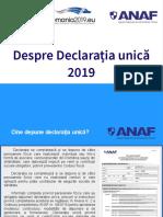 Despre Declarația unică 2019 - ANAF